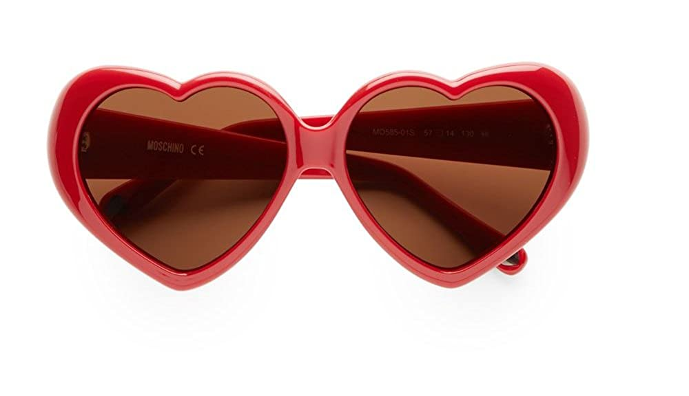 MOSCHINO Women's MO-58501-S Sunglasses, Red, 57 MO/58501/S_Red