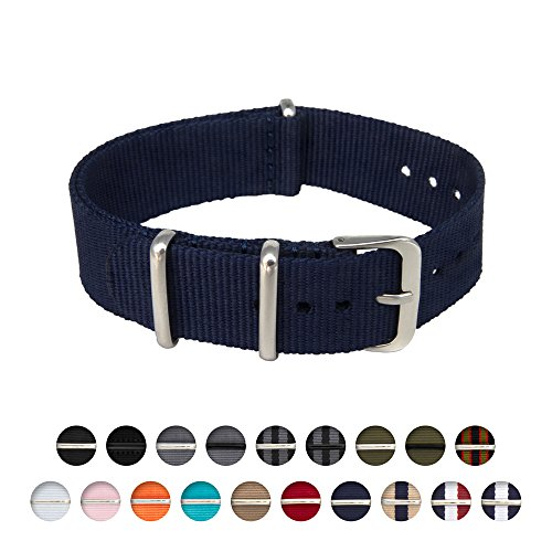 Archer Watch Straps | Nylon NATO Straps | Choice of Color and Size (Navy, 22mm)