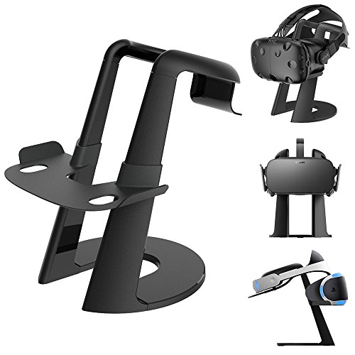 Dinly VR Stand, Virtual Reality Headset Display Holder for all VR Glasses - HTC Vive, Sony PSVR, Oculus Rift, Oculus GO, Google Daydream, Samsung Gear VR and MERGE VR/AR by Dinly
