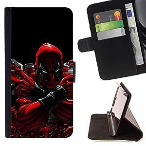 DEVIL CASE - FOR Samsung Galaxy Core Prime - Evil Superhero 2 - Style PU Leather Case Wallet Flip Stand Flap Closure Cover