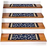 Stair Treads Carpet Non-Slip – Stair Runners for Wooden Steps Non Slip – Rubber Back Stair Rugs – Pet Dog Carpet for Stairs -