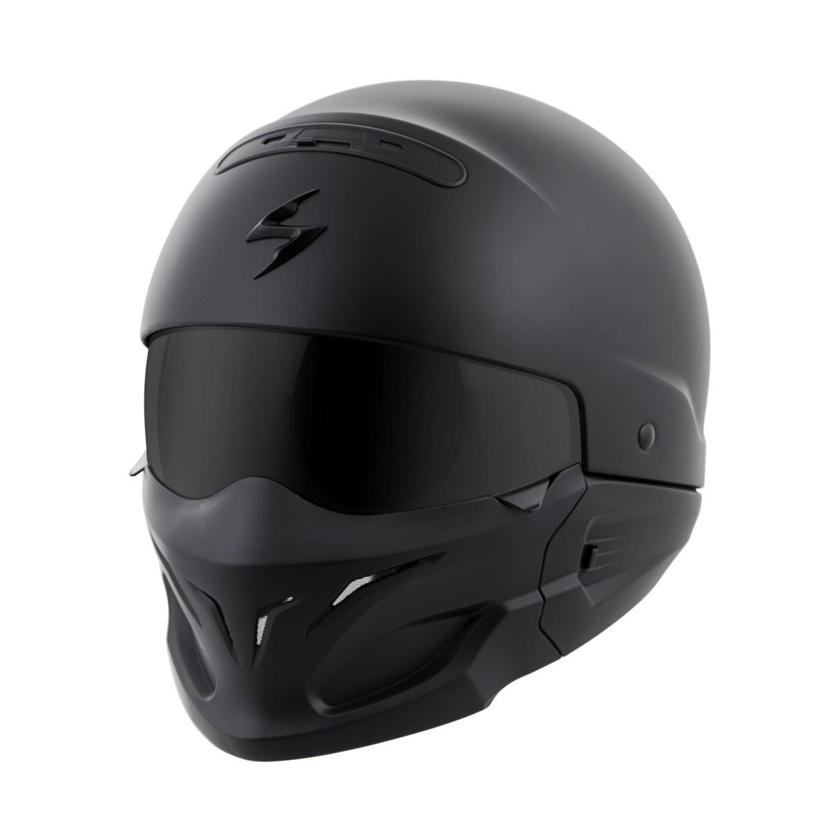 ScorpionExo Covert Unisex-Adult Half-Size-Style Matte Black Helmet (Matte Black, Medium)