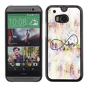 Be Good Phone Accessory // Dura Cáscara cubierta Protectora Caso Carcasa Funda de Protección para HTC One M8 // Quote Art Original Author