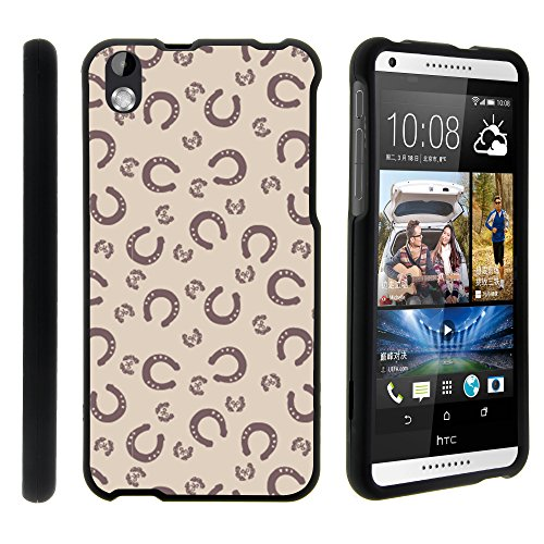 Desire 816 Case, Ultra Slim Fit Fashionable Snap On Cases for HTC Desire 816 (Virgin Mobile) from MINITURTLE | Includes Clear Screen Protector and Stylus Pen - Horse Shoe Patterm