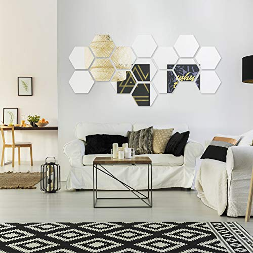 15 Pieces Removable Acrylic Mirror Setting Wall Sticker Decal for Home Living Room Bedroom Decor (Style 4, 15 Pieces) by Shappy (Image #4)