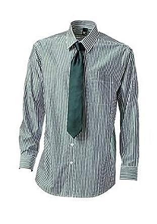 Camisa con Corbata de BC en verde Blanco Rayas: Amazon.es: Ropa y ...