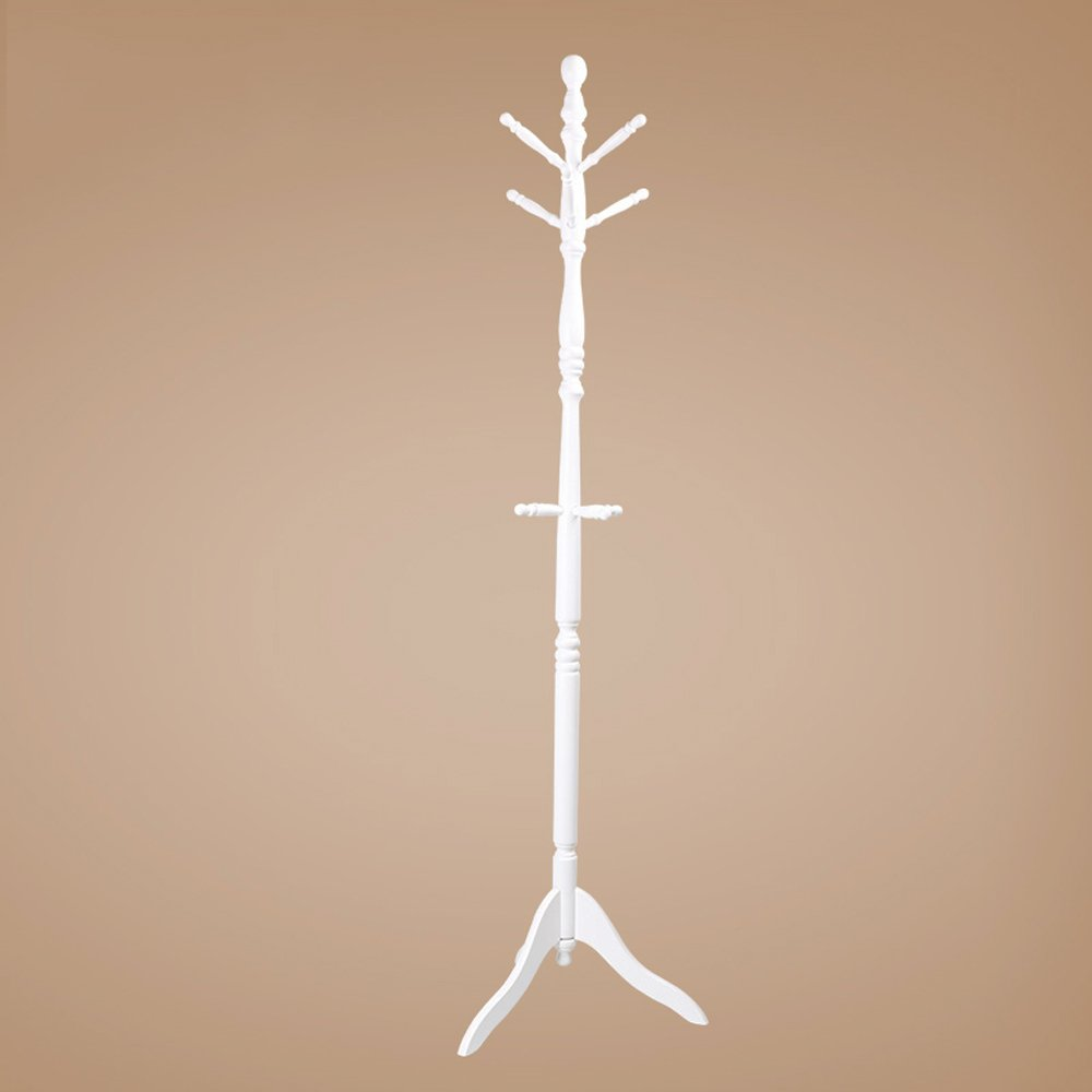 White Coat Rack Can Be redated Creative Simple Coat Rack Floor Multi-Functional Bedroom Living Room Office 183cm × 50cm (color   White)