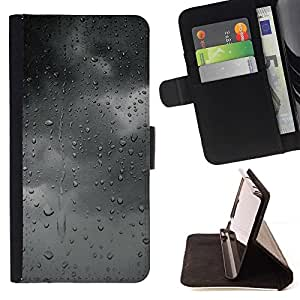 Momo Phone Case / Flip Funda de Cuero Case Cover - Gris Gris Nubes humor Ventana Otoño - Samsung Galaxy S6 Edge Plus / S6 Edge+ G928