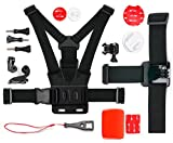 waterproof camera emerson - Action Camera 17-in-1 Extreme Sports Accessories Bundle - Compatible with the Emerson HD Action CAM EVC455 - by DURAGADGET