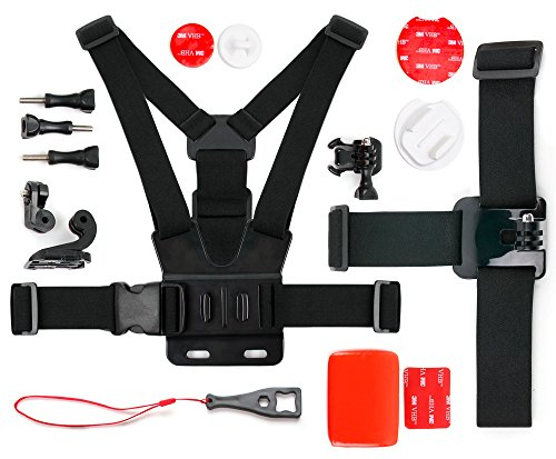 DURAGADGET Action Camera 17-in-1 Extreme Sports Accessories Bundle - Compatible with The DBPOWER N5 4K Action Camera