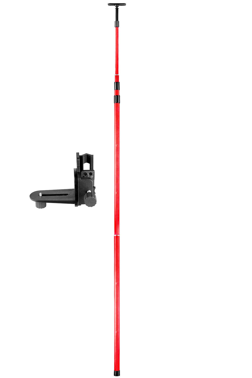 Firecore FS124 Telescoping Pole with 1/4-Inch by 20-Inch Mount Ceiling Leveling Rod for Rotary and Line Lasers