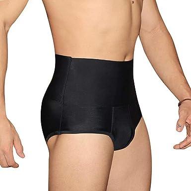 Frecoccialo Boxer Gainant Homme Culotte Scuplante Taille Haute Ventre Plat  Push-up Taille Grande S 3ac54e66afc