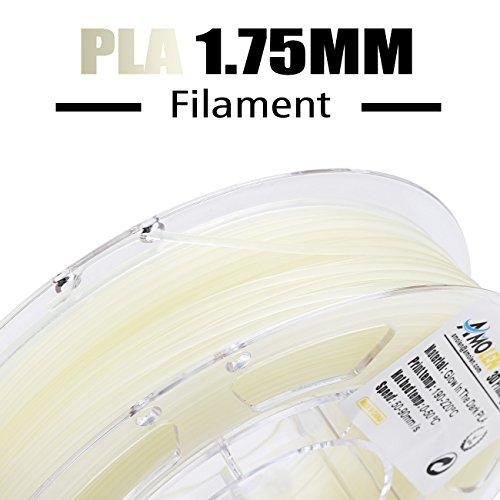 200G 0.44lb 3D Printer Filament Glow The Dark Blue PLA 1.75mm +//- 0.03 Mm ,