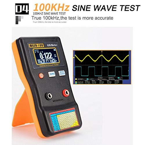 Digitaler Kondensator-Tester MESR-100 V2 Kapazit/ät Ohm ESR Kondensator Meter Tester 0,001 bis 100R
