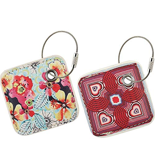 PAIYULE Case Compatible for Tile Pro with Replaceable Battery - 2 Pack(Flower,Love)(CASE ONLY)
