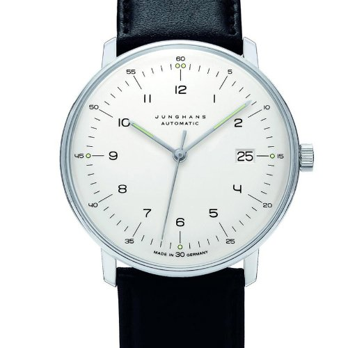 Junghans Men's 'Max Bill' Automatic Stainless Steel and Leather Dress Watch, Color:Black (Model: 027/4700.00) by Junghans (Image #2)