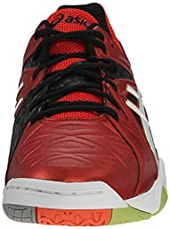 ASICS Men\'s Gel-Cyber Sensei Volleyball Shoe, Chery Tomato/White/Black, 10.5 M US