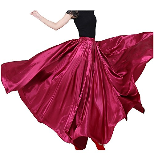 Womens Elegant Ballroom Long Latin Belly Dance Full Circle Dance Skirt (Dark - Skirt Dancer