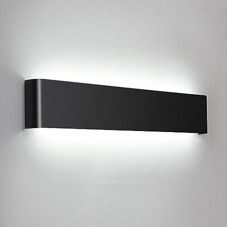 BarcelonaLED Wall Light Aluminium Black Nordic Lamp Modern Interior with Spotlight LED Rotatable Light 6W Warm White 2700K for Bedroom Reading Headboard