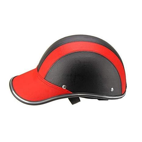 Qianren Medio Casco Ciclomotor Gorra de Béisbol Coche Eléctrico Macho y Hembra de la Personalidad Duckbill