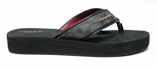 Womens Sandals COACH Judy Black/Denim/Black