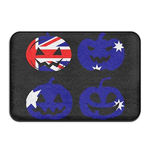 Doormat Australia Halloween Pumpkin Head Washable Memory Foam Kitchen Mat for -