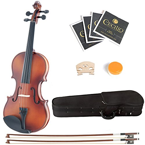 Mendini Antique Violin 2 Bows Strings product image