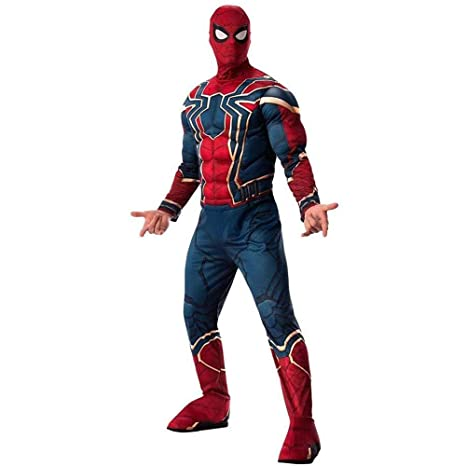 WEDSGTV Iron Spider Cosplay Deluxe Movie Costume Kids Adult ...