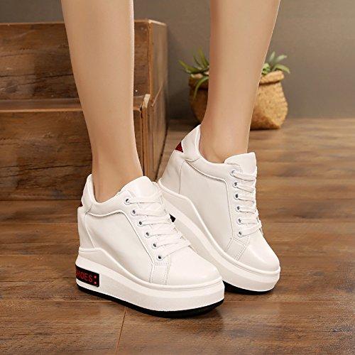 Blanc GTVERNH Chaussures pour femmes Le Printemps épais Bas Muffin Et Des Chaussures 11Cm Super Talon Haut Loisirs Augmenté Thirty-nine