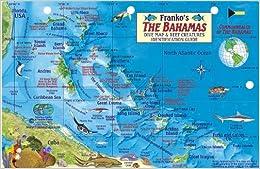 Bahamas Map Reef Creatures Guide Franko Maps Laminated Fish Card - Map of the bahamas