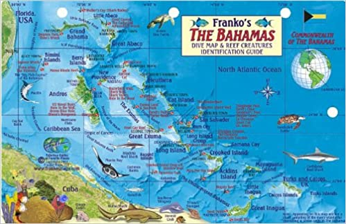 Bahamas Map Reef Creatures Guide Franko Maps Laminated Fish Card