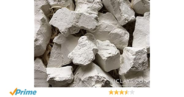 White Kaolin Edible Clay, 4 Oz Chunks Natural for Eating