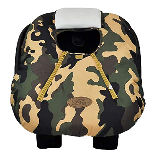 Cozy Cover Infant Car Seat Cover (Camo) - Industry Leading Infant Carrier Cover Trusted by Millions of Moms Worldwide for Keeping Your Baby Cozy and -