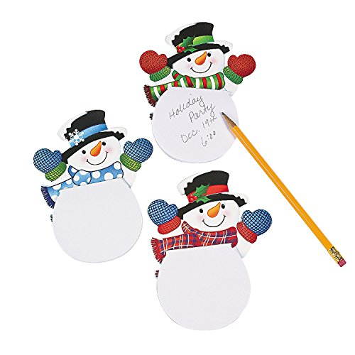 Christmas Notepad (Waving Snowman Notepads (24 Pack) Paper. 4