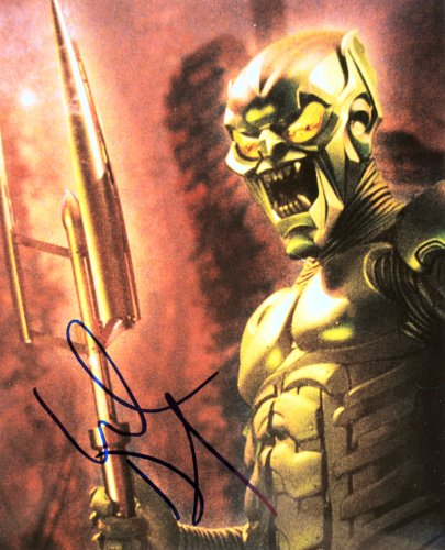 2002 - Willem Dafoe Autographed 8x10 Color Photo - Signed in Blue Sharpie - Obtained in Person - As Green Goblin - From Spider-Man - Platoon / Boondock Saints / Finding Nemo - Out of Print - Rare - Collectible