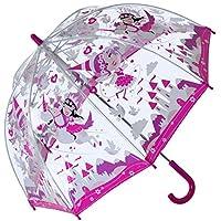 Bugzz Clear Dome Birdcage Kids Unicorn Umbrella