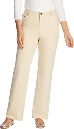 Woman Within Women's Plus Size Petite Wide Leg Stretch Jean