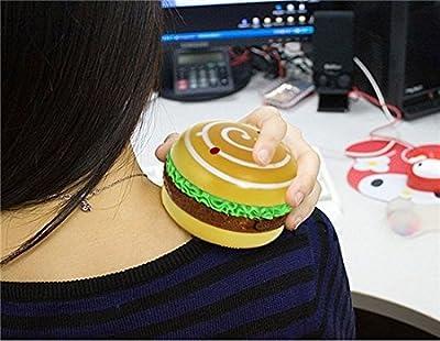 Cute Hamburger Design Hand Warmer & Massager (Yellow) by Completestore