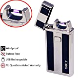 BOLT Lighter USB Rechargeable Windproof Electric Plasma Arc Cigarette Lighter with Charging Cable and Carrying Pouch