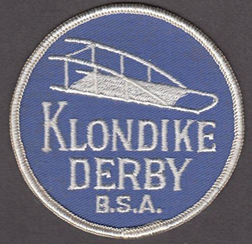 (Boy Scout cloth patch Klondike Derby bobsled 3
