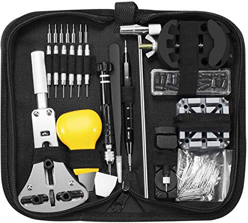 ASUMA 153 PCS Watch Repair Kit Professional Spring Bar Tool Set,Watch Battery Replacement Tool Kit,Watch Band Link Pin Tool Set with Carrying Case and Instruction Manual. from ASUMA