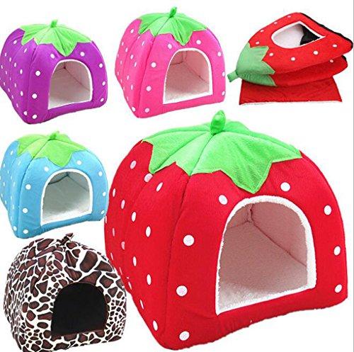 Unique Cute Strawberry Shape Pet House Cat Dog Puppy Bed (Unique Pet Costumes)