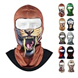 CAMTOA Motorcycle Face Mask Breathable Anti UV Face Mask Headgear Hats Lycra Balaclava Full Face Mask Neck Hood Animal Styles for Outdoor Motorcycle Bike Cycling Sports Skiing Fishing Climbing 02