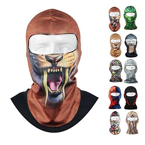CAMTOA Motorcycle Face Mask Breathable Anti UV Face Mask Headgear Hats Lycra Balaclava Full Face Mask Neck Hood Animal Styles for Outdoor Motorcycle Bike Cycling Sports Skiing Fishing Climbing 02 by CAMTOA (Image #4)