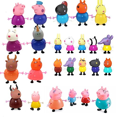 NEW MODELS 25 Pcs Cute Peppa Pig Toys Family Member Figures Different Model Dolls - Best Christmas Gift by ND_DN