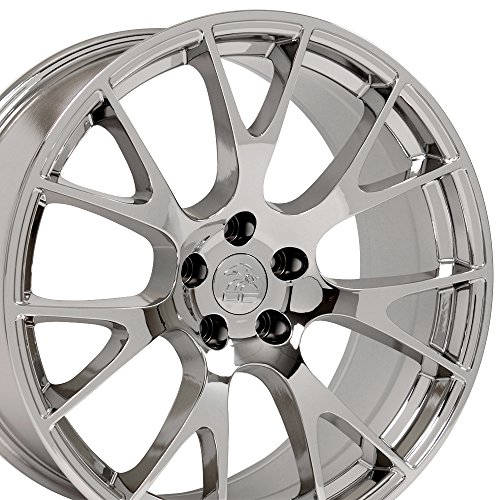 OE Wheels 22 Inch Fits Dodge Challenger Charger SRT8 Magnum Chrysler 300 SRT8 DG15 Hellcat Style Chrome 22x9 Rim Hollander 2528