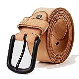 leather casual design belt's for men jeans casual pants men's leather belt Men's Gifts length,Camel,115cm