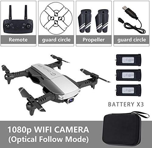 Tianzly Drohne 4K mit Kamera 1080P Quad-Copter Echtzeit-WiFi-Übertragung RC Hubschrauber Follow Me One-Key Return Kid Toy Drohnen
