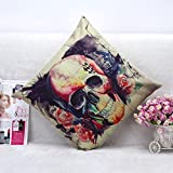 Home Decor Pillow, Gillberry Halloween Pumpkin Square Pillow Cover Cushion Case Pillowcase Zipper Closure (T)
