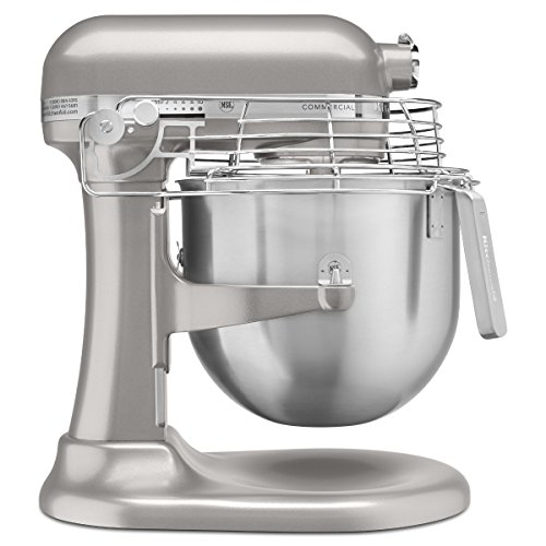 KitchenAid KSMC895NP 8-Quart Commercial Mixer with Bowl Guard, Nickel Pearl